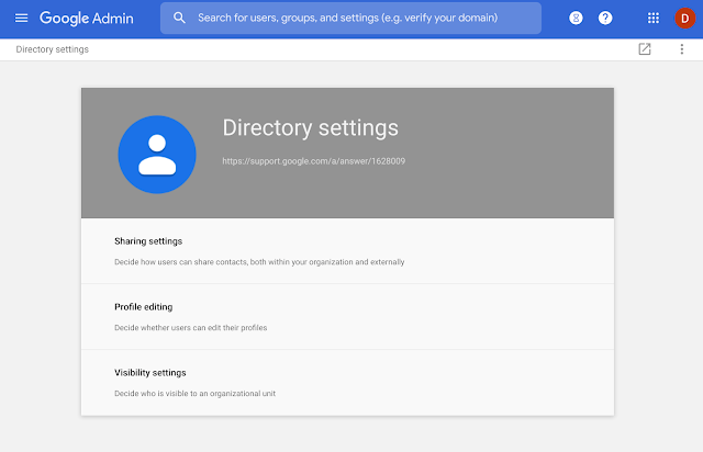 Updates to the Directory settings section of the Admin console 3