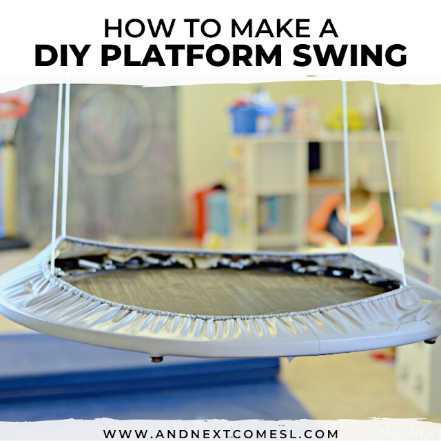 How to make a platform swing for kids