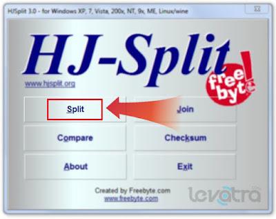 Cara Membagi File Menjadi Beberapa Bagian Dengan HJ-Split