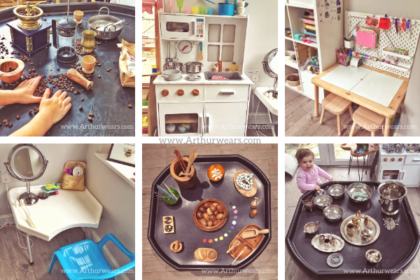 child led playroom furniture, resources and tuff tray ideas