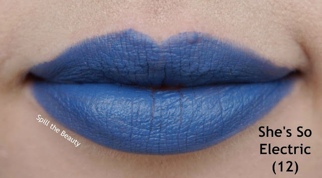 essence matt matt matt vibrant shock lipstick review swatches 12  shes so electric - lips