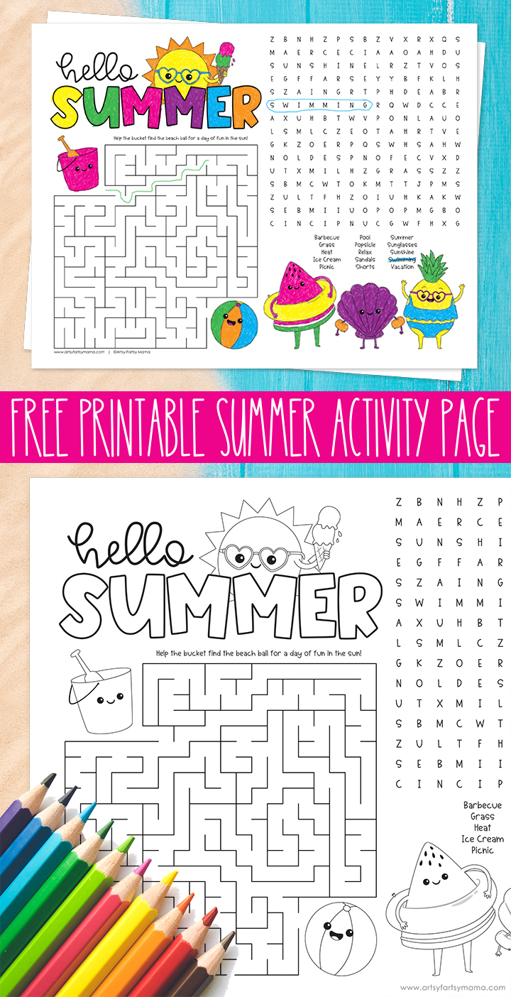 Free Printable Summer Activity Page