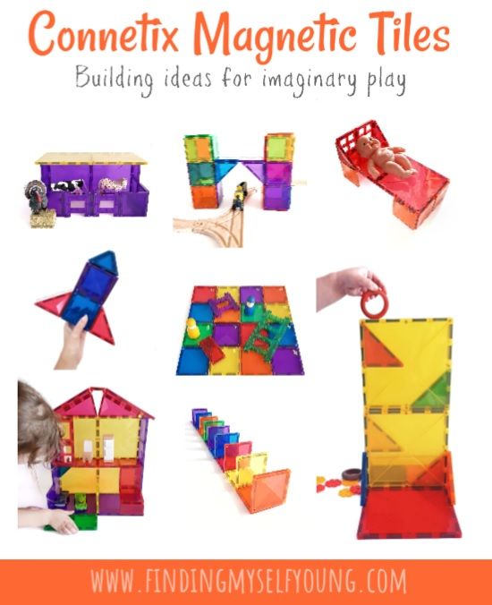 magnetic tile building ideas for imaginary play