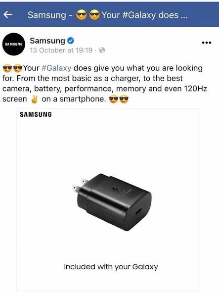 Samsung apagou publicação onde gozava com a Apple por causa da ausência do carregador