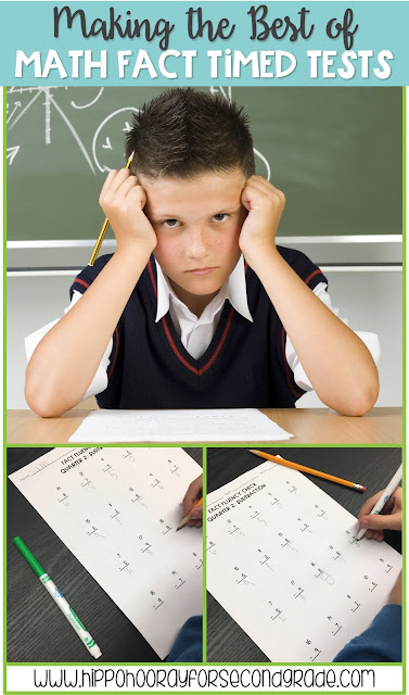 Are you required to give timed math fact tests? Check out this one simple change you can make during this routine that can help ease the anxiety and high pressure of timed math fact tests.