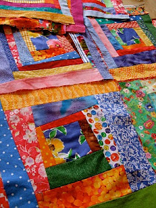 Crazy Log Cabin Quilting