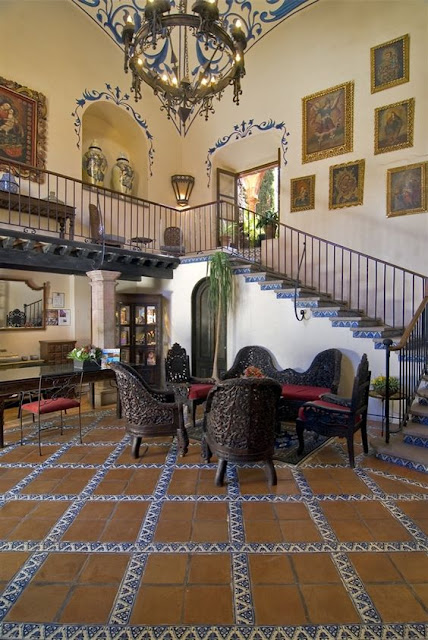 Eye for design decorate spanish colonial old hollywood for Decoracion de casas tipo hacienda
