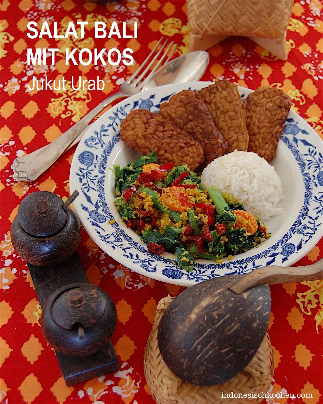 Rezept Salat Balinesisch mit Kokos indonesisch kochen