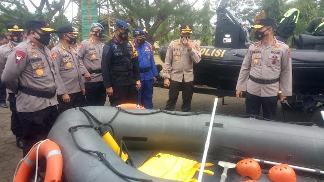 Kapolda Jambi Pimpin Apel Siaga Bencana di Makosat Brimobda Jambi