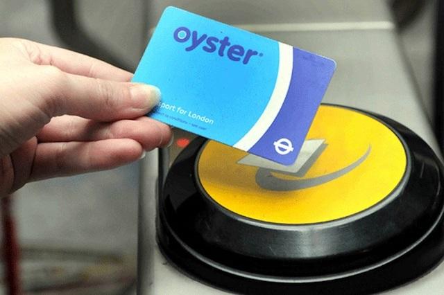 Cartão Oyster Card em Londres
