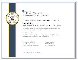 Especialista en comercio electrónico en Colombia Linkedin Learning