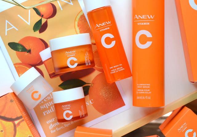 Avon Anew Vitamin C Collection Flatlay