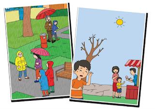 "LKS 3 Kelas 3 SD Tema 5 Subtema 3 ""Pengaruh Perubahan Cuaca Terhadap Kehidupan Manusia"