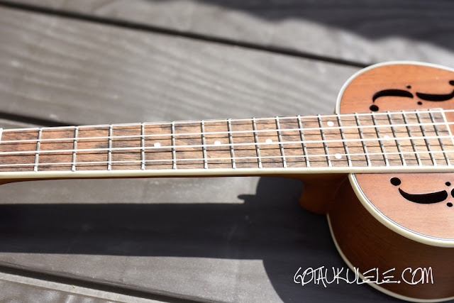 Sound Smith Resonator Ukulele neck
