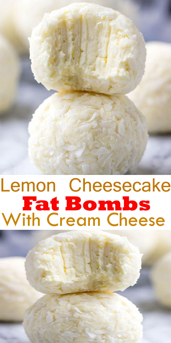 Lemon Cheesecake Fat Bombs With Cream Cheese #Lemon #Cheesecake #FatBombs #With #Cream #Cheese #LemonCheesecakeFatBombsWithCreamCheese