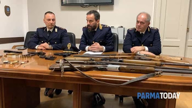 A 35-year old Albanian drug dealer with five rifles detained in Parma