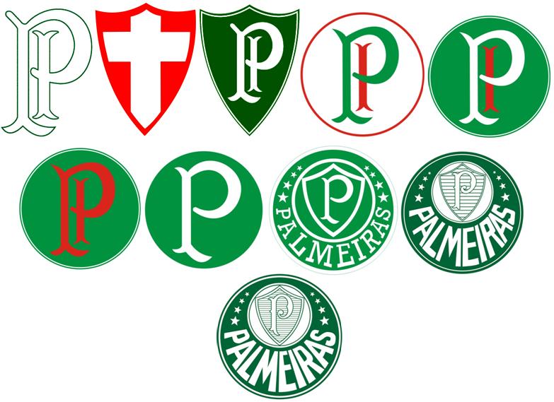 Evolução do Escudo do Palmeiras