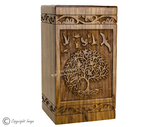 Natural Wood Urns for Cremation
