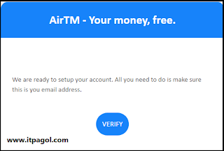 email from AirTM.