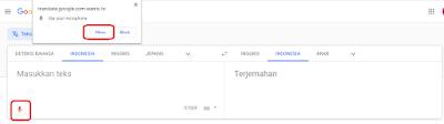 mengetik otomatis dengan google terjemahan