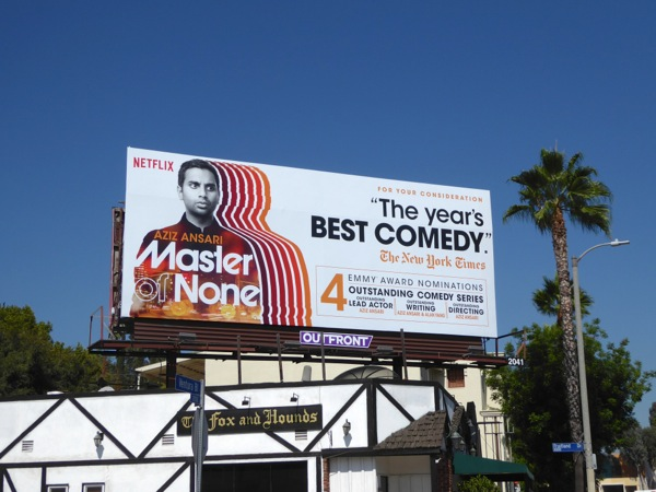 Master of None season 1 Emmy nomination billboard