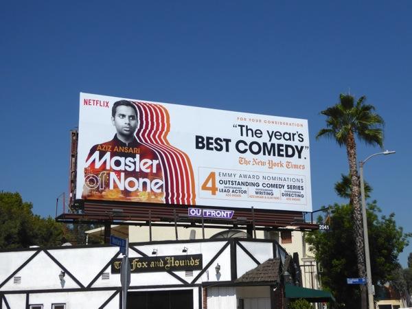 Master of None season 1 Emmy nomination billboard