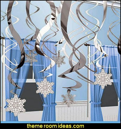 Snowflake Hanging Swirl Decorations
