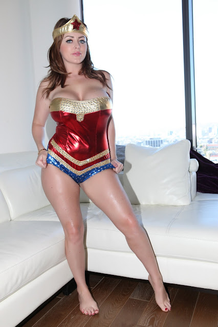 Sophie Dee wonder woman standing sexy full pic