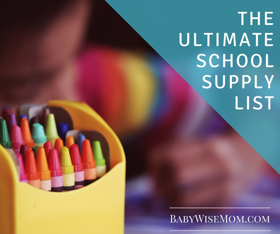 The Ultimate School Supply List {Friday Finds}