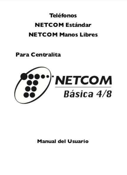 mi colección de teléfonos...: MANUAL DE USUARIO NETCOM