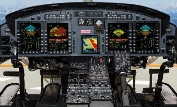 Bell 412EPI cockpit