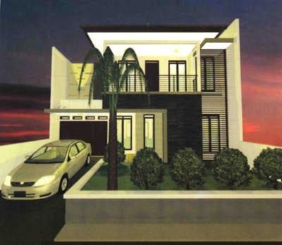 desain rumah tingkat minimalis, elegan serta nyaman
