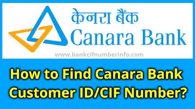 How to find Canara Bank Customer id