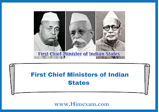 First Chief Ministers of Indian States