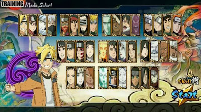 Download Naruto Senki MOD Unlimited Money Boruto Generation Full Character Apk Terbaru