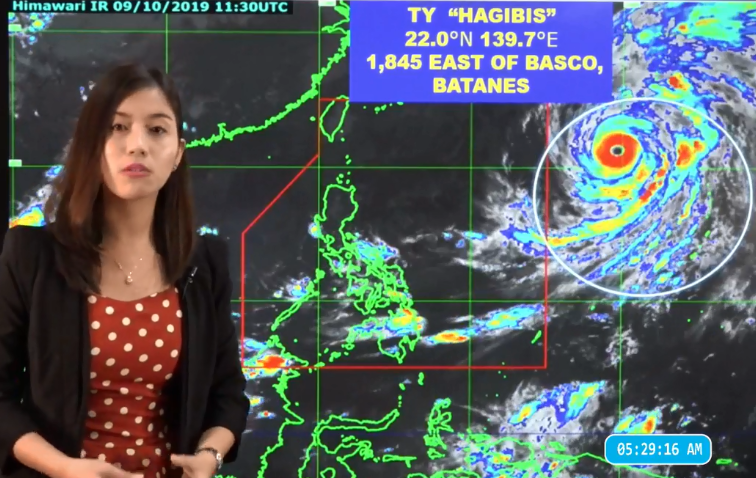 Super Typhoon Hagibis PAGASA weather update October 10, 2019