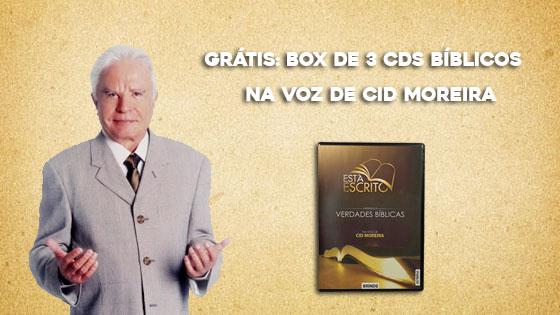 Grátis: Box de 3 CDs bíblicos na voz de Cid Moreira