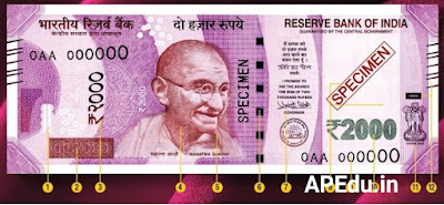 If these 17 marks are not on the Rs.2000 note then it is a counterfeit note