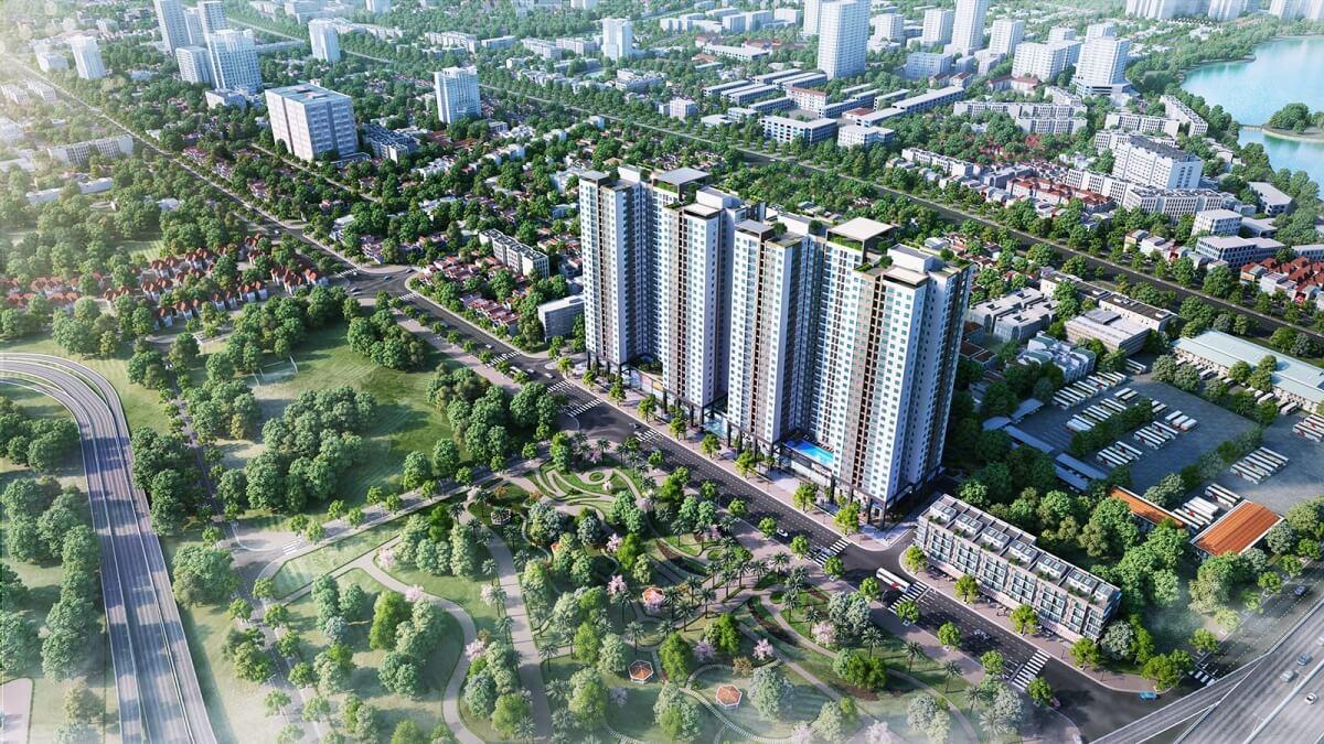 Phối cảnh tổng thể Phương Đông Green Park