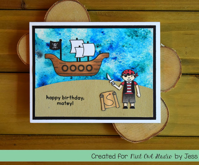 Pirate Birthday Card by Jess Crafts for Mint Owl Studio
