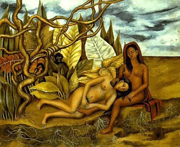 Dois Nus na Floresta - Frida Kahlo e suas pinturas ~ Pintora comunista e revolucionária