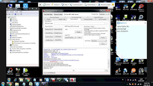Hapus Micloud Redmi 3 Ido Tanpa Dongle UMT via Remote Teamviewer
