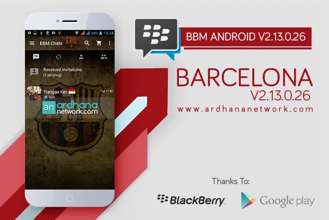 BBM FC Barcelona V2.13.0.26 - BBM Android Tema Sepakbola