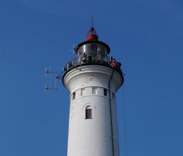 Der Leuchtturm von Nr. Lyngvig. Nicht gebastelt, aber von uns in Dänemark bestiegen und wunderschön!