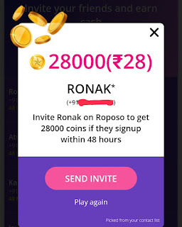 PROOF] Roposo app : Best app to get unlimited free paytm cash upto 50 ₹. || Tricks Rewards