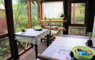 山野草盆栽の教室 睦草の9月のアトリエ風景