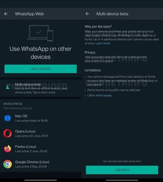WhatsApp Multi-Device Feature Beta Now Rolling Out