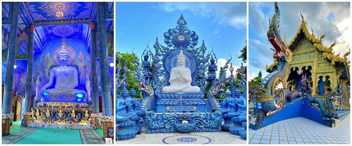 Wat Rong Sear Ten Templo Azul de Chiang Rai na Tailândia