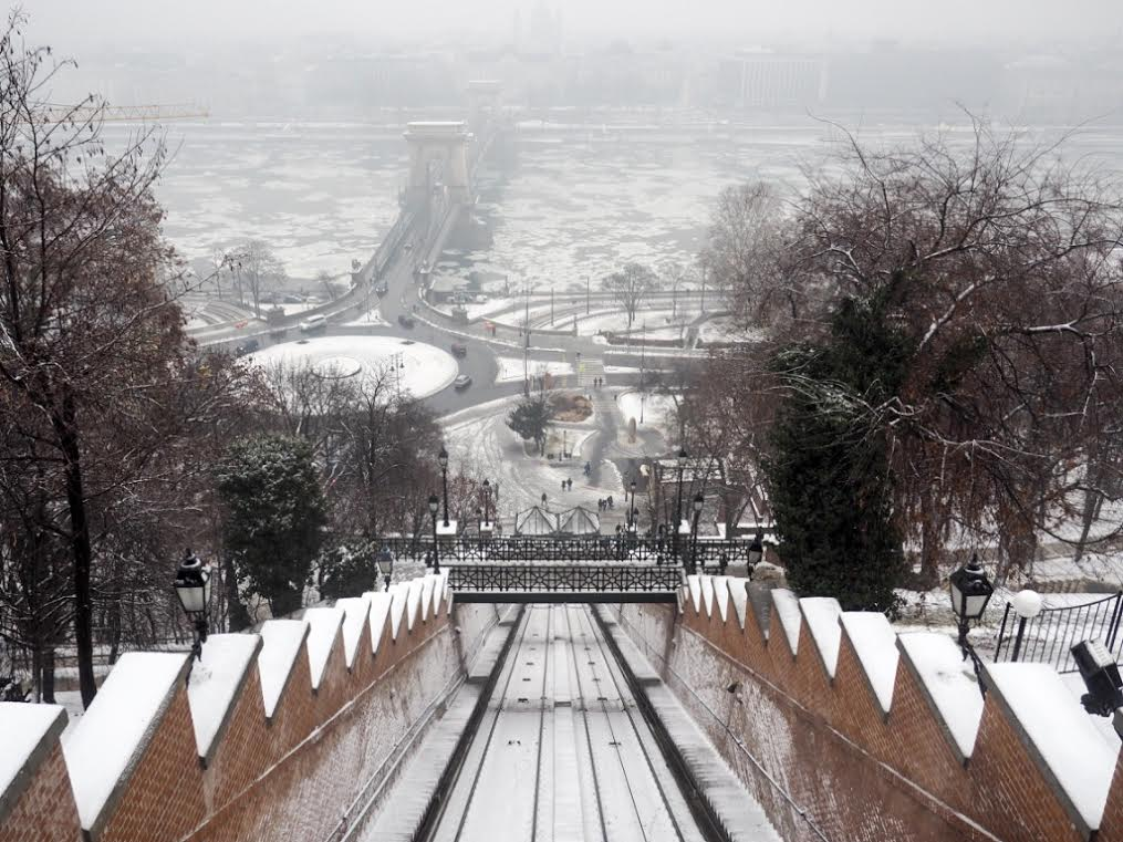 Budapest funicular view