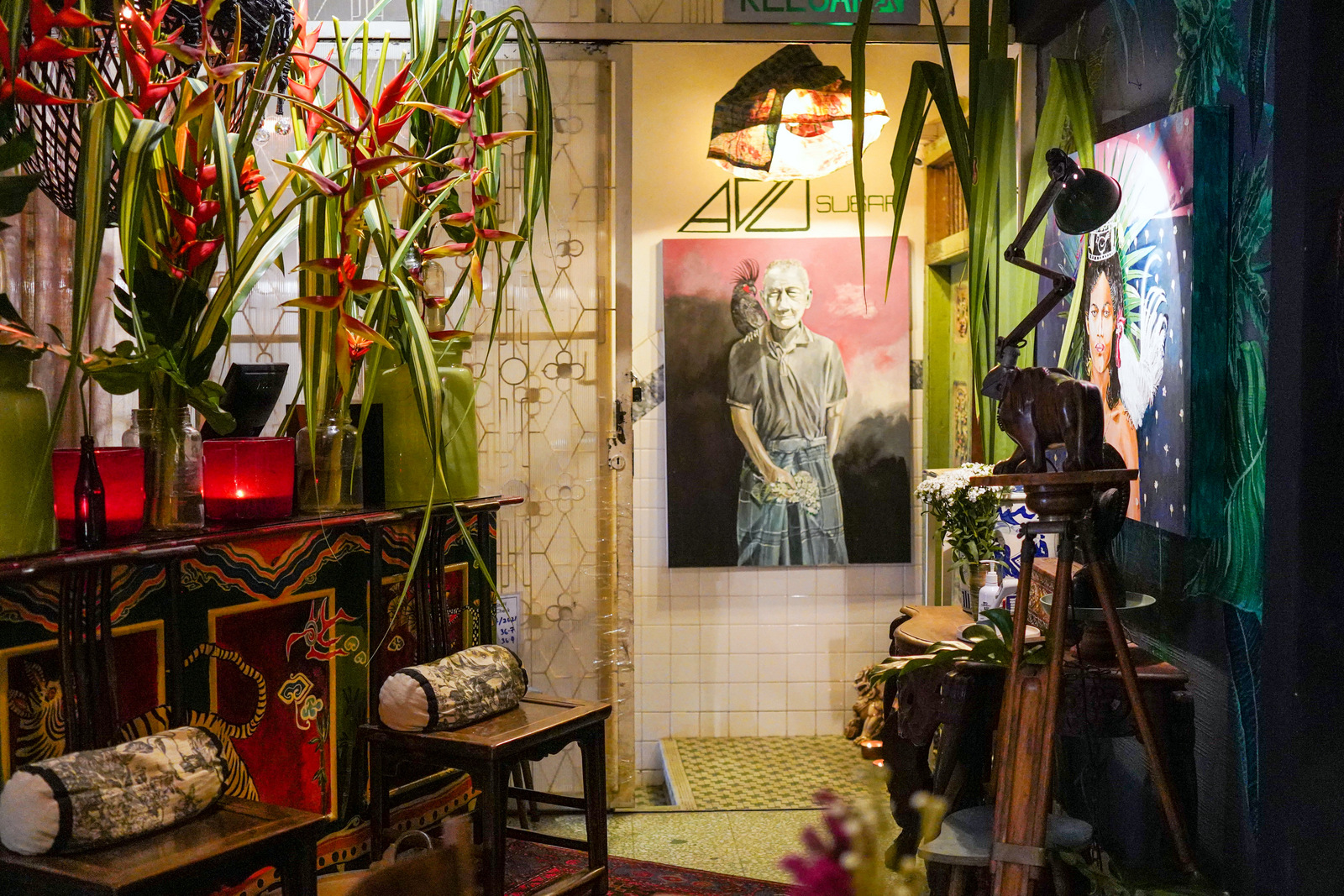 adu sugar restaurant, bangsar: a chef's life revealed in surreal portraits, on sumptuous plates